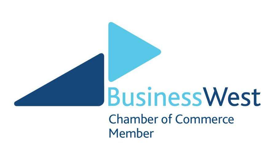 The logo of Business West