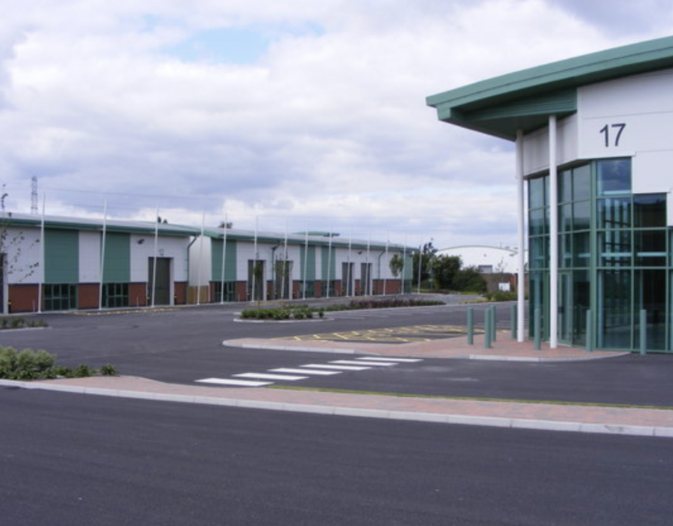 An industrial estate is quiet during a recession