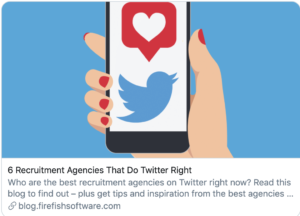 A cartoon drawing of a woman's hand holding a phone with a Twitter App on it